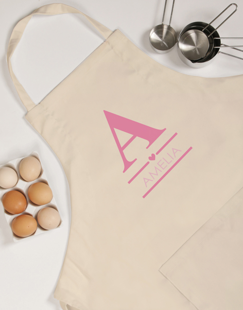 mothers-day: Personalised Pink Heart Apron!