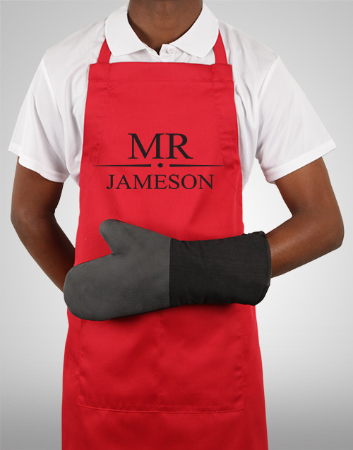 personalised: Personalised Mr Apron!