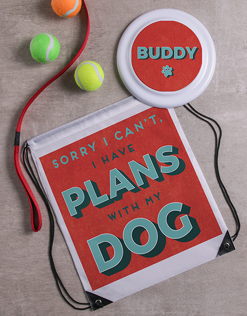 get-well: Personalised Plans with My Dog Frisbee and Bag!