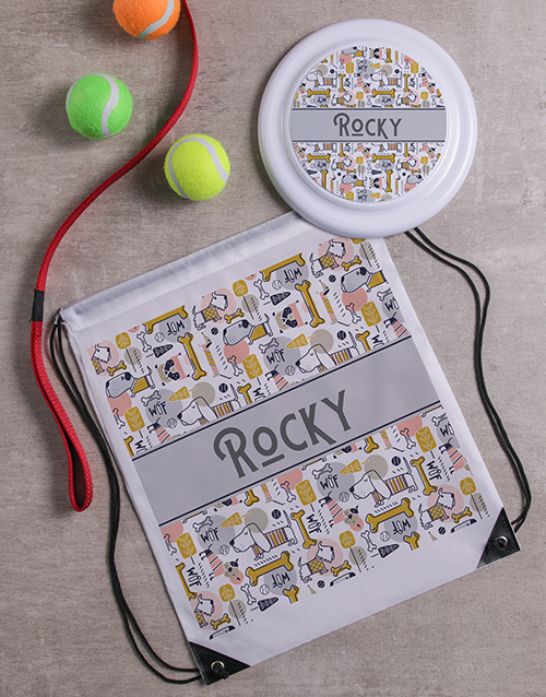 mothers-day: Personalised Dog Print Frisbee and Bag!