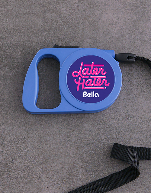 personalised: Personalised Retro Retractable Dog Lead!