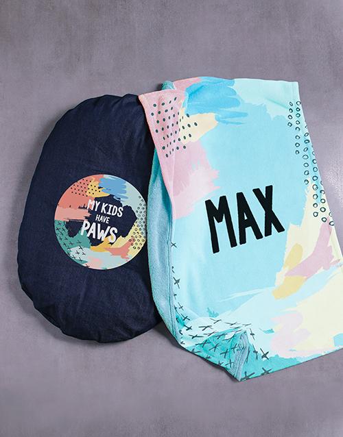 personalised: Personalised Paw Kids Blanket And Bed!