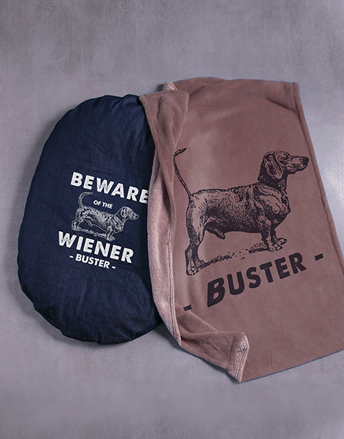 personalised: Personalised Wiener Bed and Blanket!
