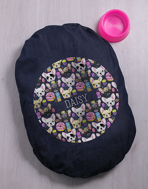 personalised: Personalised Boston Terrier Dog Bed And Bowl!