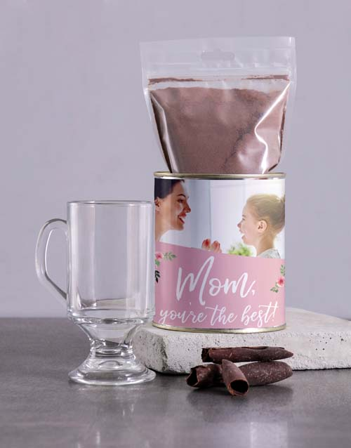 mothers-day: Personalised Best Mom Hot Chocolate Tin!