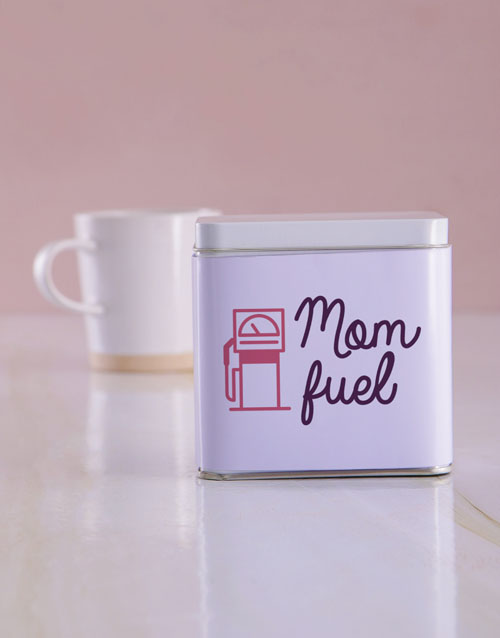 personalised: Personalised Mom Fuel White Tea Tin!