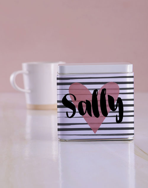 personalised: Personalised Heart White Tea Tin!
