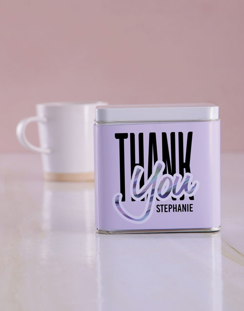 personalised: Personalised Thank You White Tea Tin!