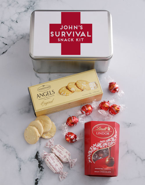 gourmet: Personalised Survival Kit Snack Tin!