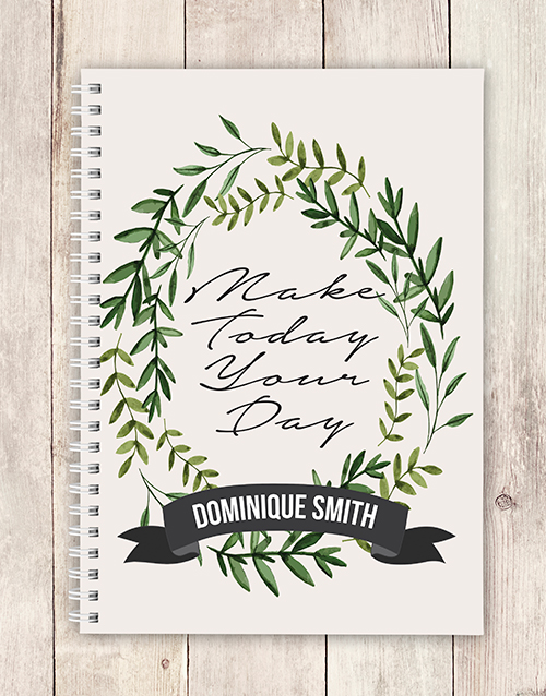 personalised: Personalised Make Today Notebook!