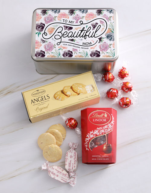 mothers-day: Personalised Beautiful Mom Snack Tin!