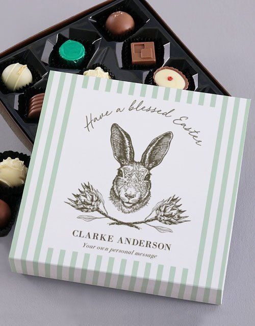 chocolate: Personalised Easter Chocolate Tray!