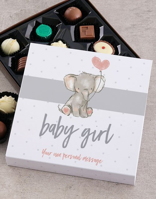chocolate: Personalised Baby Girl Chocolate Tray!
