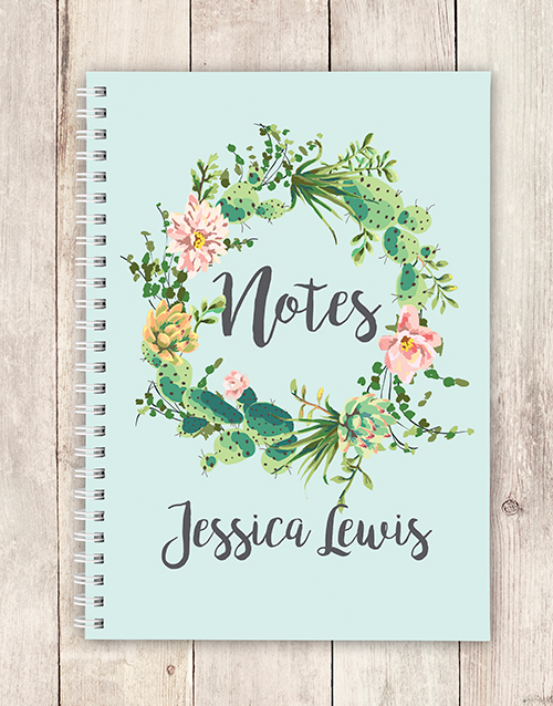 friendship: Personalised Festive Wreath Notebook!