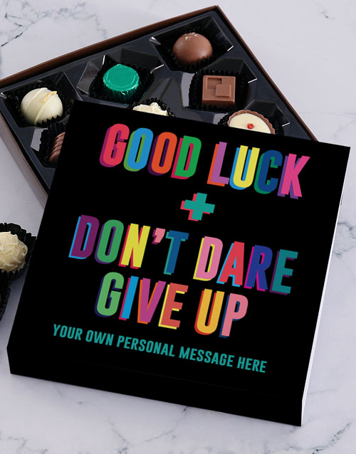 chocolate: Personalised Good Luck Chocolate Tray!