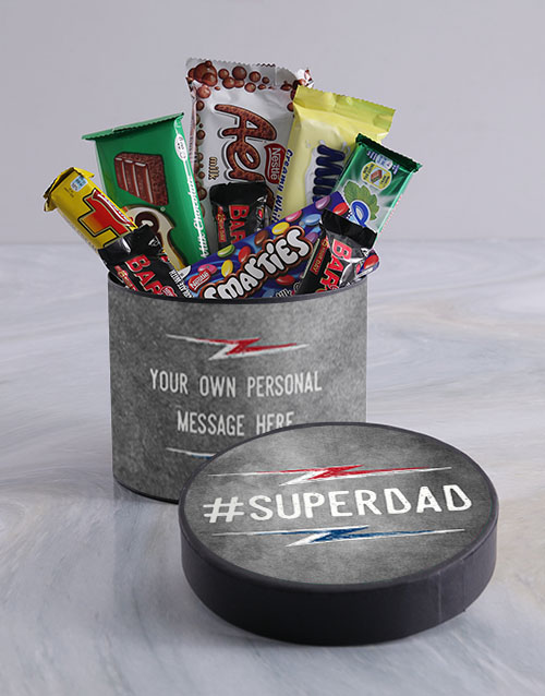 personalised: Personalised Super dad Hat Box!