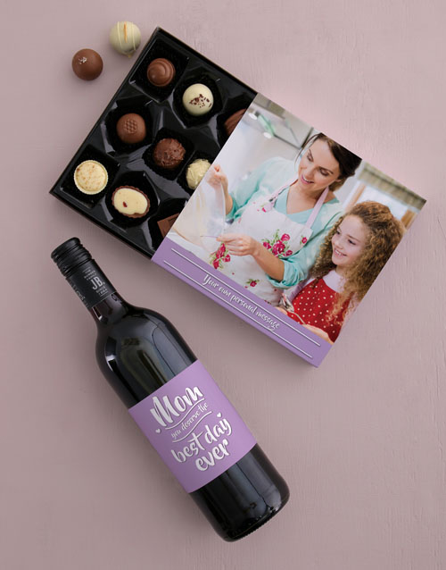 personalised: Personalised Best Day Ever Choc and Wine Combo!