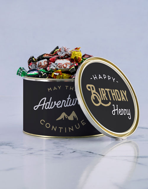 personalised: Personalised Adventures Chocolate Passions Tin!