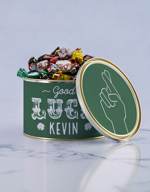 personalised: Personalised Good Luck Chocolate Passions Tin!