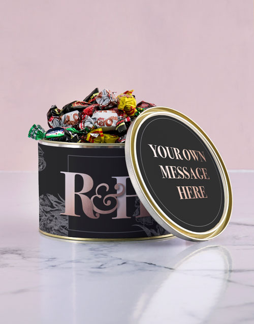 personalised: Personalised Anniversary Chocolate Passions Tin!