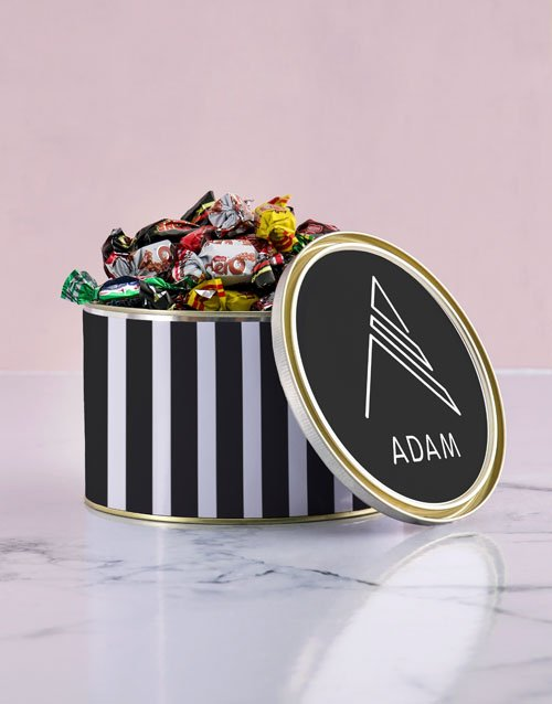 year-end: Personalised Monogram Chocolate Passions Tin!