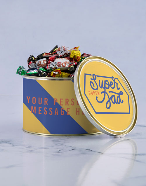 fathers-day: Personalised Duper Dad Chocolate Passions Tin!