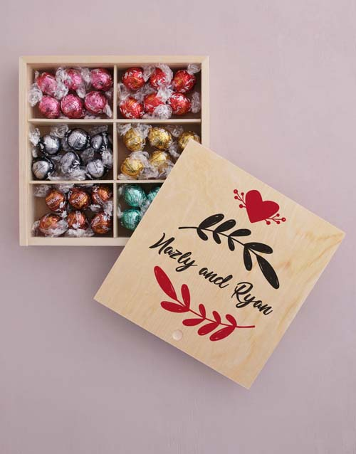 personalised: Personalised Leaf With Love Box Of Chocs!