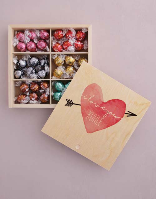chocolate: Personalised Heart And Arrow Box Of Chocs!