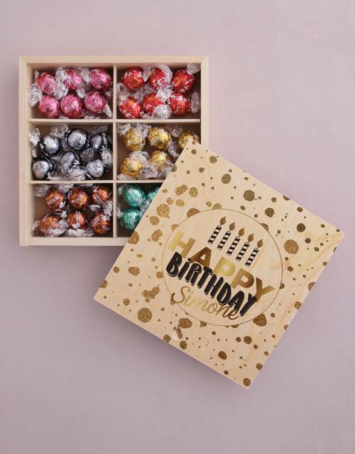personalised: Personalised Gold Birthday Box Of Chocs!