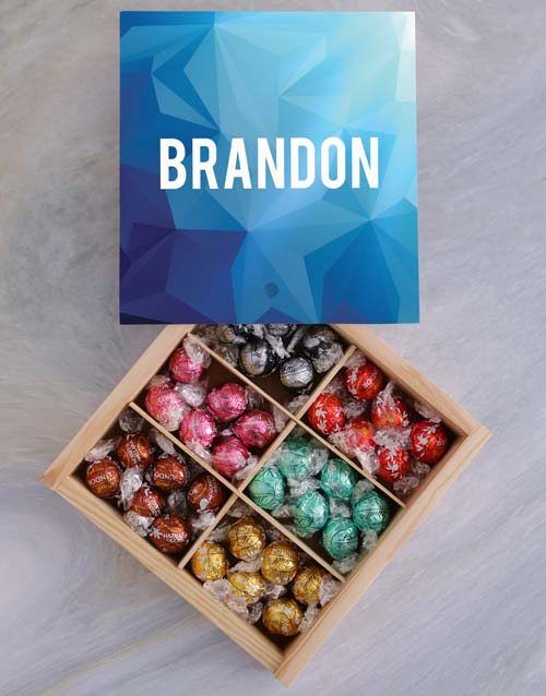 personalised: Personalised Blue Box Of Chocs!