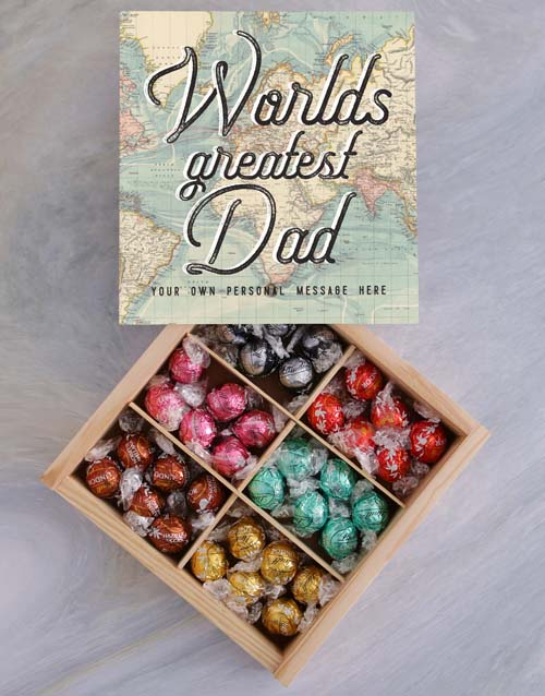 personalised: Personalised Greatest Dad Box Of Chocs!