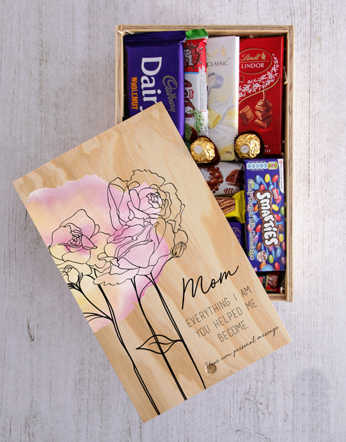 mothers-day: Personalised Chocolate Crate For Mom!