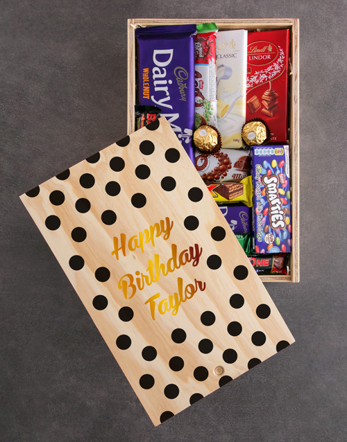 birthday: Personalised Happy Birthday Chocolate Crate!