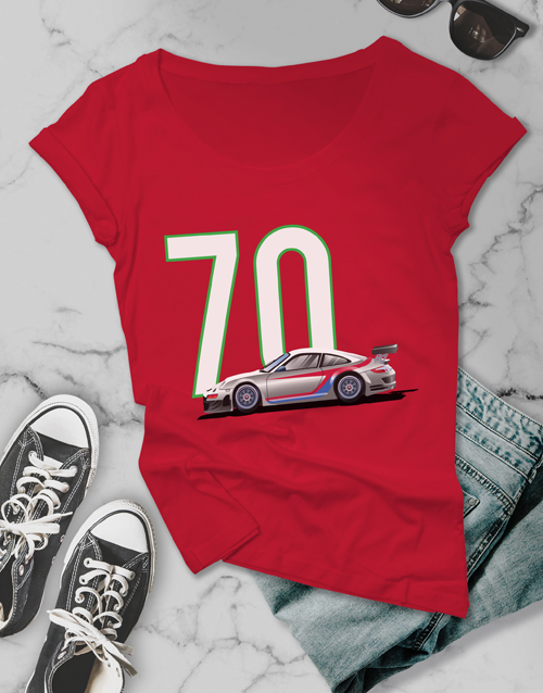 clothing: Personalised Ladies Year Car T Shirt!