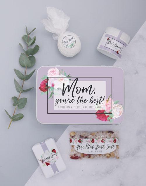 birthday: Personalised Mom Bath Spoils Keepsake Box!