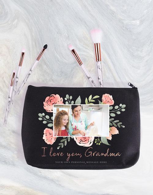 personalised: Personalised Grandma Photo Cosmetic Bag!
