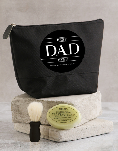 grandparents-day: Personalised Best Dad Ever Wash Bag!