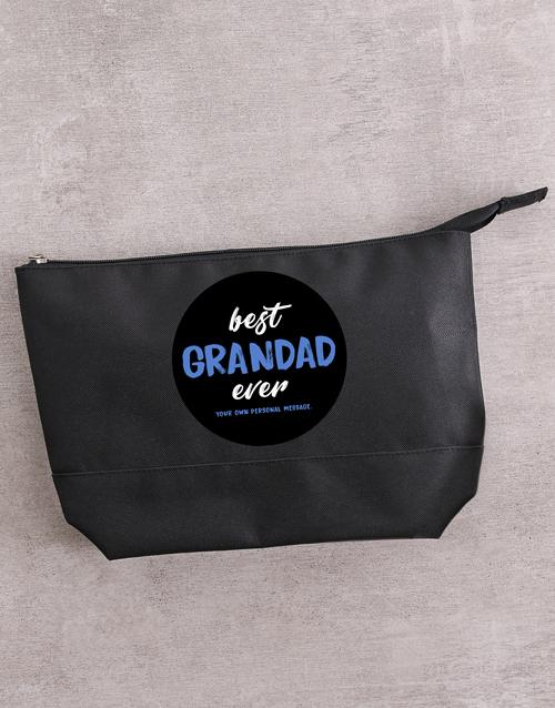 personalised: Personalised Best Grandad Ever Wash Bag!