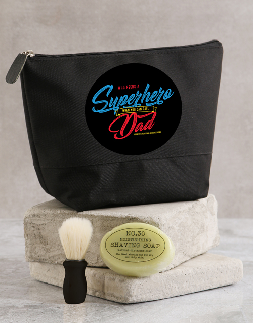 personalised: Personalised Super Hero Wash Bag!