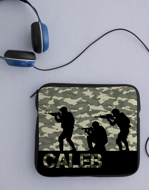 personalised: Personalised Neoprene Soldier Tablet Cover!