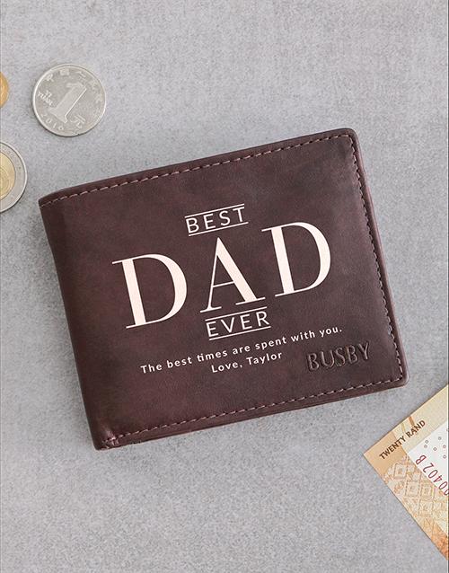 personalised: Personalised Dad Busby Brown Bilfold Wallet!