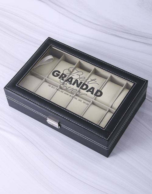 fathers-day: Personalised Grandad Watch Box!