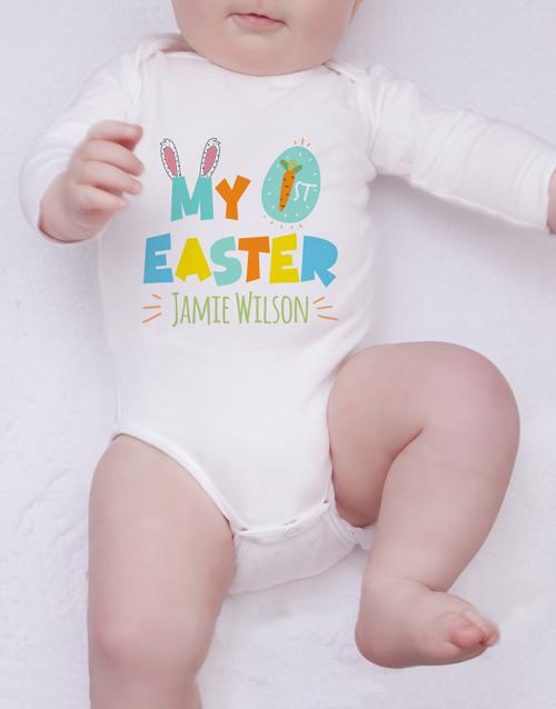 baby: Personalised First Easter Gender Neutral Onesie!