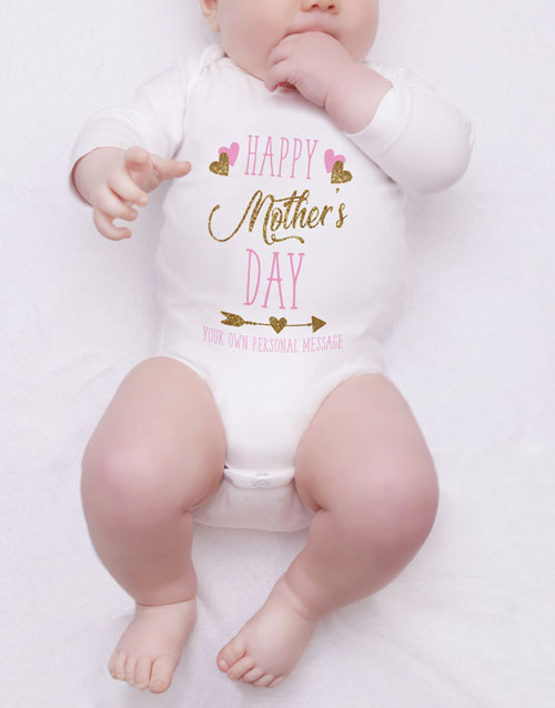 gifts: Personalised First Mothers Day Girl Onesie!