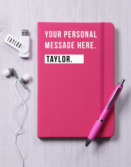 personalised: Personalised Pink Tech Set!