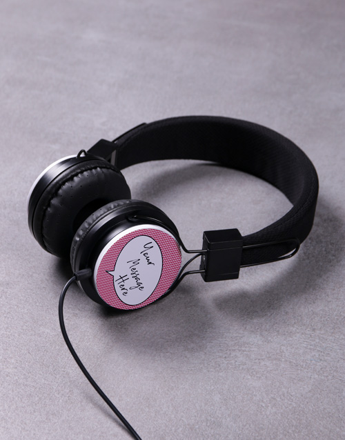 gifts: Personalised Speech Bubble Headphones!