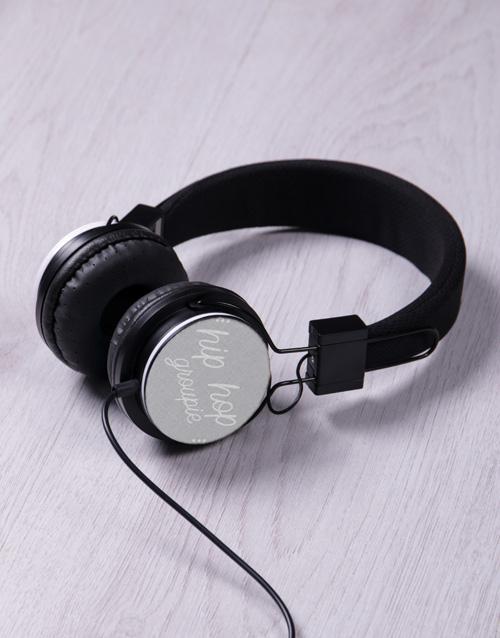 personalised: Personalised Blue Groupie Headphones!