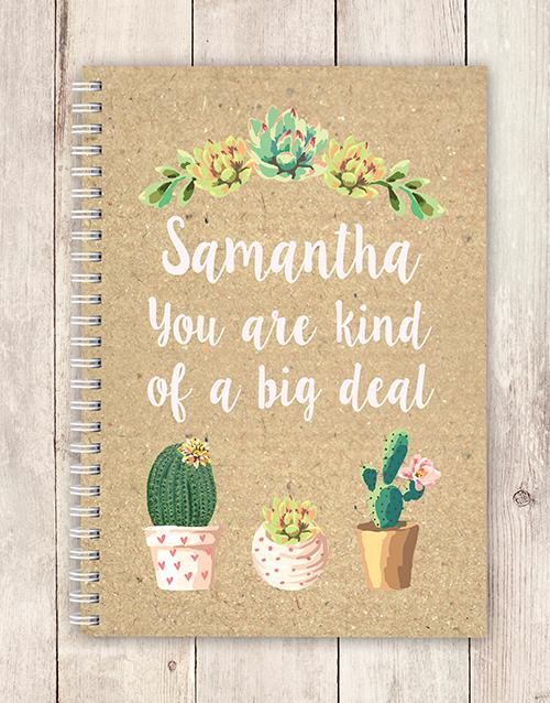 personalised: Personalised Big Deal Notebook!