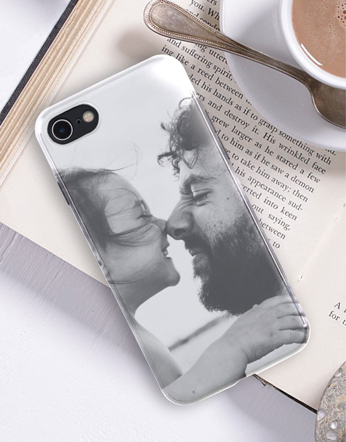 personalised: Personalised Photo Black iPhone Cover!