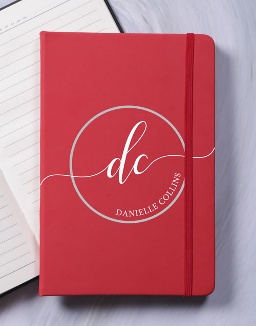personalised: Personalised Initial Stamp A5 Notebook!